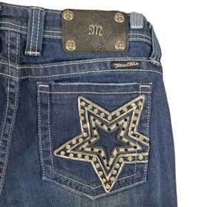 Miss Me Star Pocket Boot Cut Jeans  A11-8